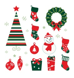 christmas and winter design vector image vector image