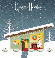 Christmas open house vector