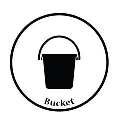 Icon of bucket vector image
