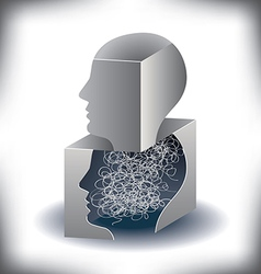 Scribble man vector image
