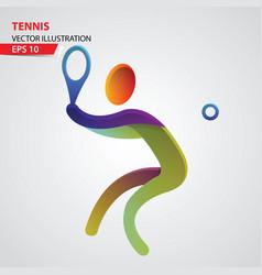 tennis color sport icon design template vector image vector image