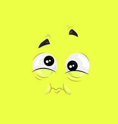 feeling of nausea face vector image