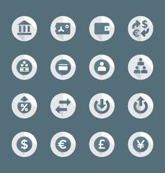 flat style various financial banking icons set vector image