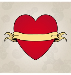 Heart tattoo Place to insert your text vector image