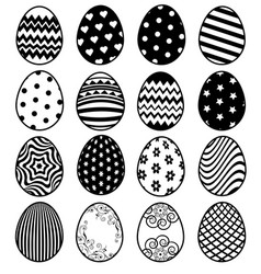 set of eggs for easter day vector image vector image