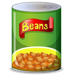 A can of beans vector image vector image