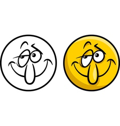 character face cartoon vector image vector image