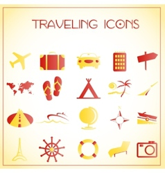 Traveling icons vector image