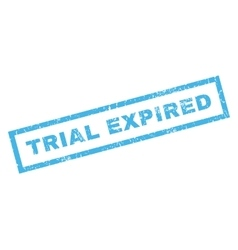Trial expiblue rubber stamp vector