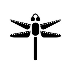 dragonfly icon black sign on vector image vector image