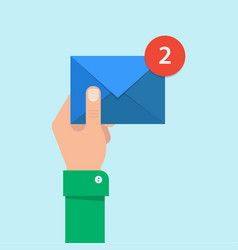 email message concept vector image
