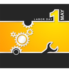 1 May international labour day background vector