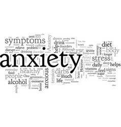 A healthy diet to beat anxiety vector