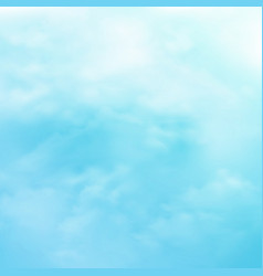 abstraction group of clouds on clear blue sky on vector image