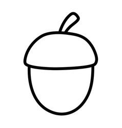 Acorn nut fruit autumn icon thick line vector