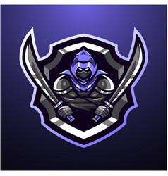 assassin head mascot logo vector image