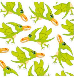 Bird dinosaur pterodactyl patterncartoon vector
