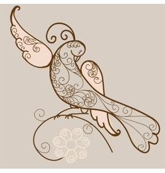 Bird ornament vector image