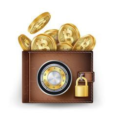 bitcoin wallet abstract technology bitcoin vector image