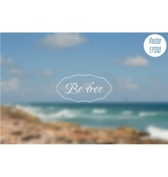Blurred photo background with turquoise sea waves vector image