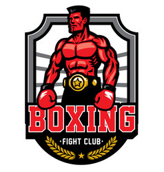 boxing championship badge vector image