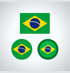 brazilian trio flags vector image