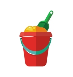 Bucket with shovel for vector image