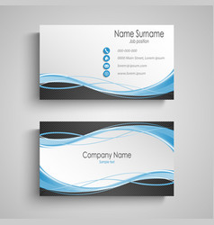 business card with abstract curves design vector image
