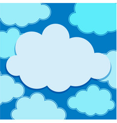 Clouds floating on blue sky vector