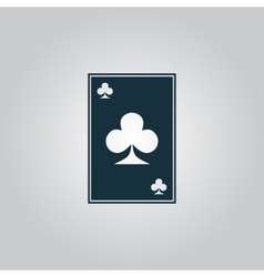Clubs card icon vector image