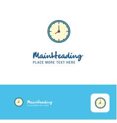 creative clock logo design flat color logo place vector image