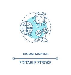 Disease mapping concept icon vector
