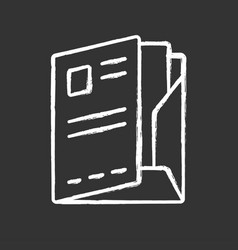Document folder paper case chalk icon portfolio vector