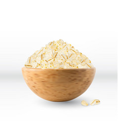 dry raw oat flakes or oatmeal vector image