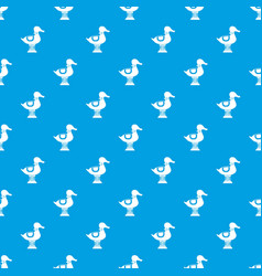 Duck spring see saw pattern seamless blue vector