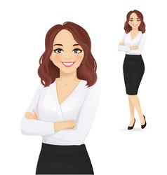 elegant business woman portrait vector image