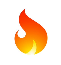 Fire flames new yellow orange icon vector
