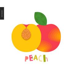 Food patterns fruit peach vector