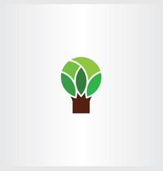 geometric tree logo symbol icon element vector image