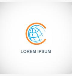 Globe earth sphere logo vector