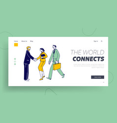 Good deal business travel landing page template vector