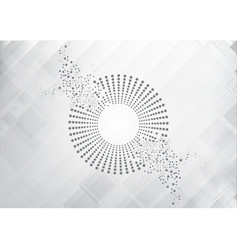 Grey abstract circle technology vector