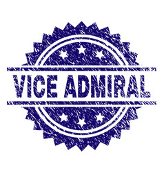 Grunge textured vice admiral stamp seal vector
