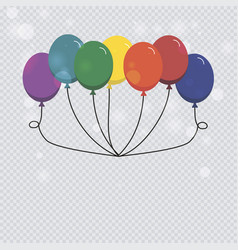 helium balloon isolated on transparent background vector image