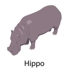 hippo icon isometric style vector image