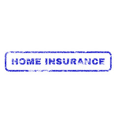 Home insurance rubber stamp vector