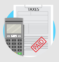 Icons paid taxes vector