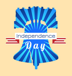 independence day usa liberty bell tape vector image
