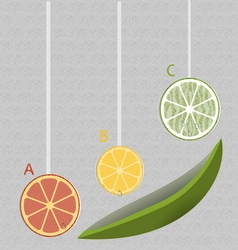 lemon ABC vector image