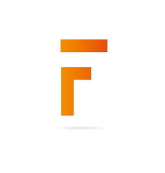 Letter f logo design template elements vector